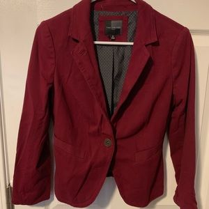 NWOT The Limited Maroon Blazer w/ Dotted Lining XS